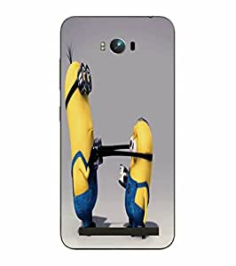 Make My Print Minions Printed Yellow Hard Back Cover For Asus Zephone Max