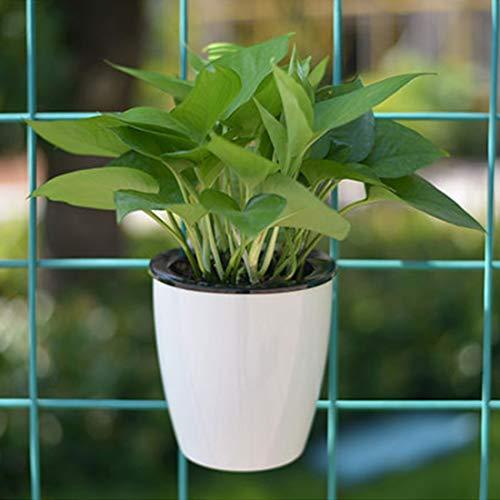 Multifonction Pots de fleurs paresseux Radis vert pilules de viande Hydroponics Pots de fleurs en plastique de résine circulaire suspendus, taille: 19 * 12.3 * 15.8cm Absorbant l'eau Commodité