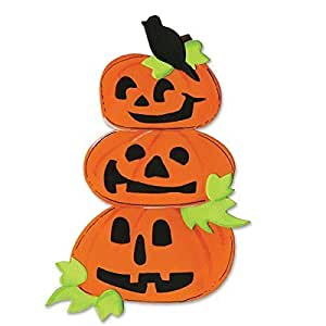 Sizzix Bigz Die - Pumpkins with Crow & Leaves by Brenda Pinnick by Sizzix