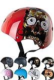 Skullcap BMX Helm Skaterhelm Fahrradhelm Herren | Damen | Jungs & Kinderhelm- Gr. S (49 - 54 cm) Kinderhelm, Red Skull - Kinderhelm