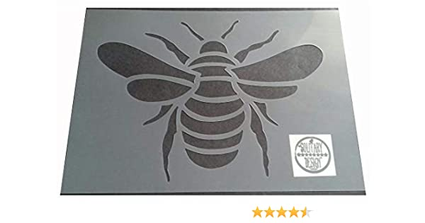 Shabby Chic Stencil Bumble bee Rustic 2 size Vintage A4 297x210mm furniture wall