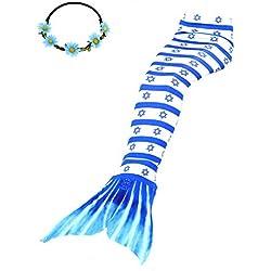2XDEALS Disfraz De Sirena para Niña y Mujer Traje De Sirena Niña Cola De Sirena para Nadar Mujer Adulta, M Adulto, Israel
