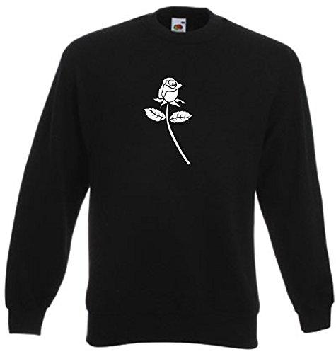 Black Dragon - Sweatshirt Herren & Damen schwarz - M - Fruit of The Loom - Bedruckt - Rose - Fasching Party Geschenk Funshirt