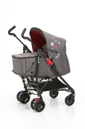 Safety 1st 19265422 - Easy Way Buggy Komfort-Set mit Softtragetasche ab Geburt bis 15 kg, red mania