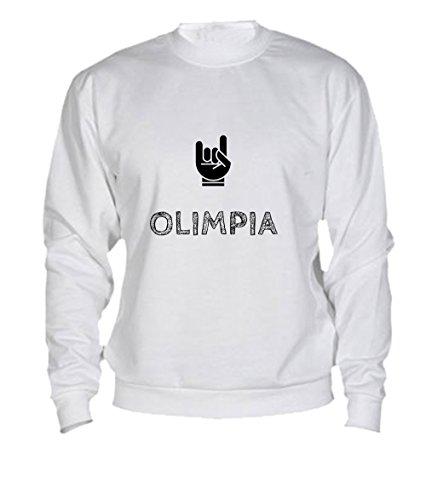 Felpa Olimpia - Print Your Name White