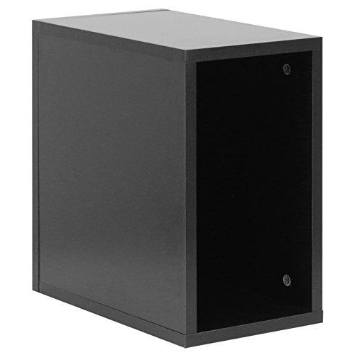 Hartleys Caja de almacenaje Negra para Discos de Vinilo