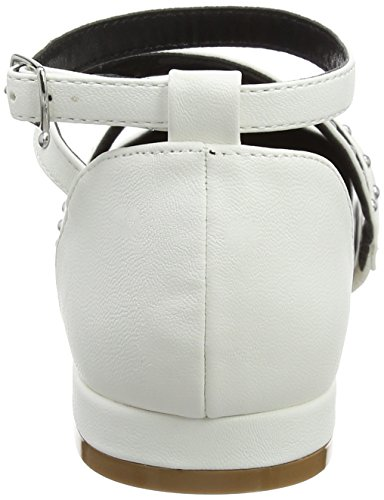 Miss Selfridge - Point Ballerina, Pantofole Donna White (White)