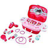 RGB Group - So Fashion You Vanity Dressing Table Mini Carry Case Portable Make Up Role Play Set With Accessories (Pink Beauty Case)