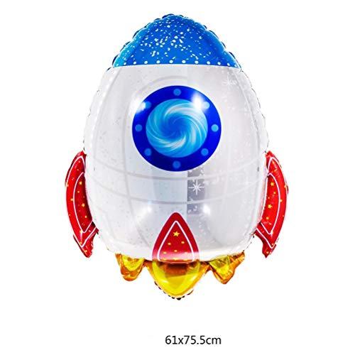 Bloomeet Folienballons für den Weltraum, Astronaut, Raketenschiff, Solarsystem, Partydekoration D