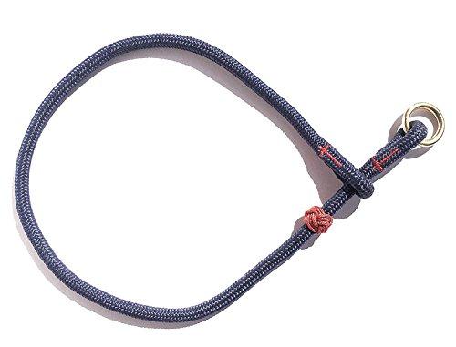 wertiges MeRuBu Seil-Halsband mit Messingring in Rot, Marine, Grün, Schwarz, Orange, Blau Oder Lila (8 mm) (38 cm, Marine) ()