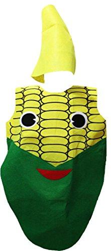petitebelle gelb Mais Kostüm-Set Party Wear Unisex Kinder Kleidung Gr. Einheitsgröße, (Kinder Mais Kostüme)