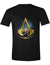 Assassins Creed Origins T-Chemi hommes Logo Hyroglyphics coton noir de
