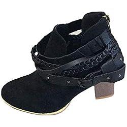 Botines Planos de Spring para Mujer Zapatos con Cordones para Mujer Zapatos Mujer Botas Nieve Otoño Invierno Calzado Bowknot Otoño e Invierno Wine Negro