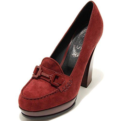 1750G decollete donna bordeaux TOD'S scarpa scamosciata Bordeaux