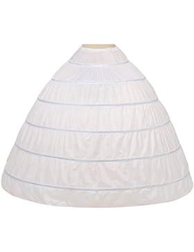 Noriviiq Enagua Boda 6 Aros Mujer Largas Crinoline Petticoat Boda Accesorios para Cancan Vestido Novia