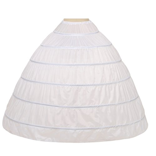 Noriviiq Damen 6 Reifrock Petticoat Crinoline Eine Linie Bodenlänge Hochzeitskleider Unterrock...