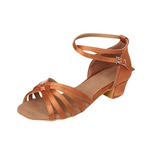 Lihaer estate traspirante sandali con tacco basso per donna e bambini scarpe da ballo di moda