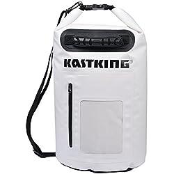KastKing® Dry Bag impermeabile per la nautica, rafting, kayak, pesca, canoa, sci, snowboard e viaggi di campeggio - duro, resistente, 100% impermeabile Roll Top Dry Bag