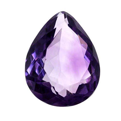 Jewelryonclick Genuine Purple Amethyst Lose Edelstein 4 Karat Birne geschliffen Stein für Schmuck im Großhandel