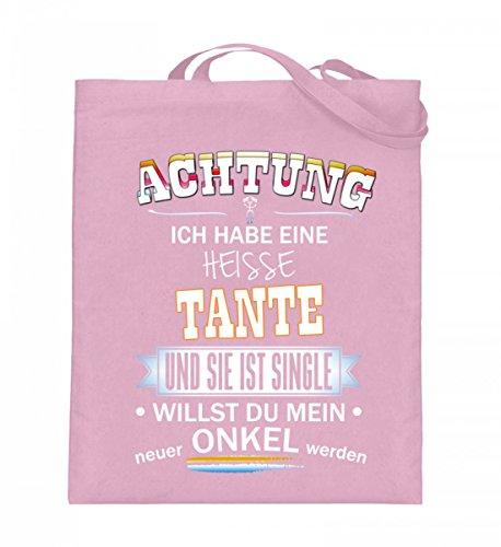 Borsa In Juta Di Alta Qualità (con Manici Lunghi) - Achtung-aunt Single Light Pink