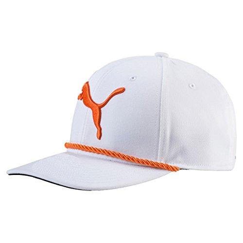 Puma Golf 2017Herren 's Go Time Hat, Herren, GOTIME Rope Cap, Bright White/Orange, Einheitsgröße