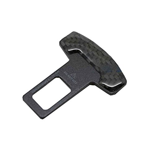 Kongnijiwa Asiento 4pcs Universal de Coche de Seguridad Hebilla de cinturón Clip vehículo Fibra de Carbono Montado