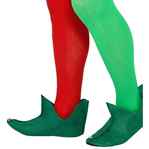German Trendseller® - Elfen Schuhe Grün ┃ Gnom ┃ Wichtel ┃ Peter Pan ┃ Die 7 Zwerge ┃ Feen (Peter Hut Erwachsene Pan)