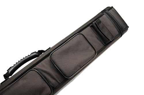 2 x 2/2x4/2x5/3x6 Professioneller Pool Queue-Koffer 2Butts 2shafts 4shafts 5shafts 3butts 6shafts Carry Billard Queue Tasche, 3x6-Brown
