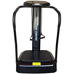 Fitness House FH Massage Plataforma de Vibración, Adultos Unisex, Negro, M-L