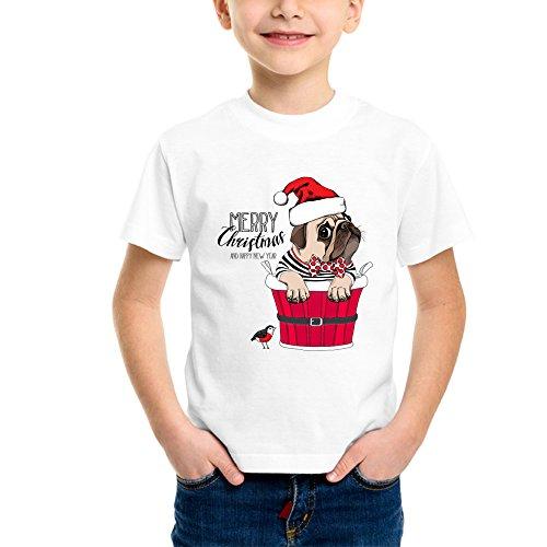 Limit Fashion Store - Cute Puppy Said Merry Christmas Kids T-Shirt (Boys/Girls)