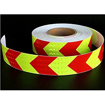 Grid Onerbuy Waterproof Reflective Safety Tape Hazard Caution Warning Sticker High Visibility Strong Adhesive Reflector Roll for Cars Trucks Trailers 6M//20ft