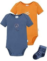 62-92 Schiesser Baby Schlafanzug 1-tlg Strampler ohne Fuß unisex weiß grau Gr