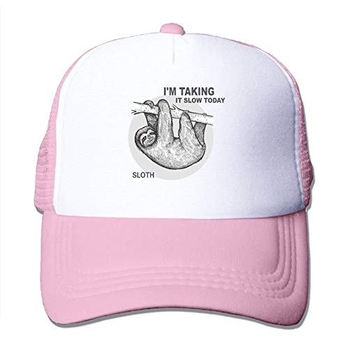 fgjfdjj Baodaoo Classic Mesh Back Trucker Hats Hung Over Lazy Day Taking It Slow Sloth Mesh Hat Adjustable Hats for Adults and Kids - Panel Mesh Back Trucker Hat
