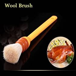 Round Plastic Handle Wool Brush Egg Oil Brush BBQ Brush Baking Tool