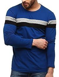 GRITSTONES Men's Plain Slim Fit T-Shirt