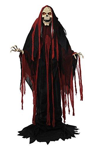 1.8m M (175cm) animiert Lichter Klingen Bewegung Bewegung Rising Sensenmann Halloween Horror Gruselig Party Dekoration (Halloween Requisiten Animierte)