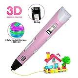 impresi/ón con Pantalla LCD y Carga USB Futaikang ni/ños y Adultos Control de la Temperatura Compatible con PLA//ABS filamentos Bol/ígrafo 3D Inteligente