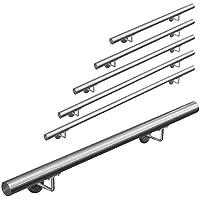 Pasamanos acero inoxidable 316 barandilla baranda pasamanos para pared pared escalera Montaje 50 - 600 cm V2Aox, Length:60 cm