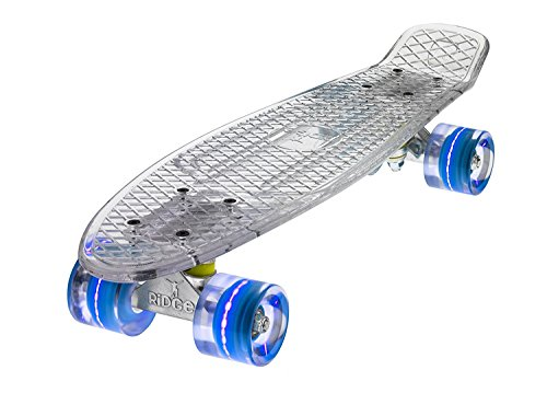 Ridge Skateboard Mini Cruiser, Klar/Blau, One size, BLAZE-CLEAR-BLUE