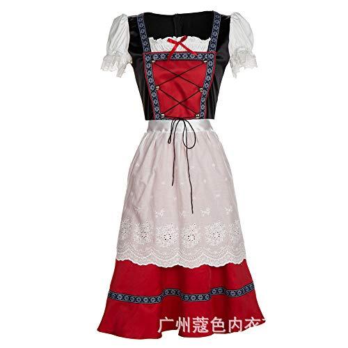 Unterwäsche & Dessous Für Damenkurzarm Dress_Traditional National Costume Kurzarm Kleid Bar, Rot, 4XL