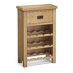 Surrey Oak Wine Cabinet - Waxed Oak - Wine Rack
