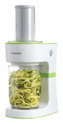 Kenwood Spiralizer FGP203WG, Spiralizzatore per verdura, 70 W, Bianco/Verde