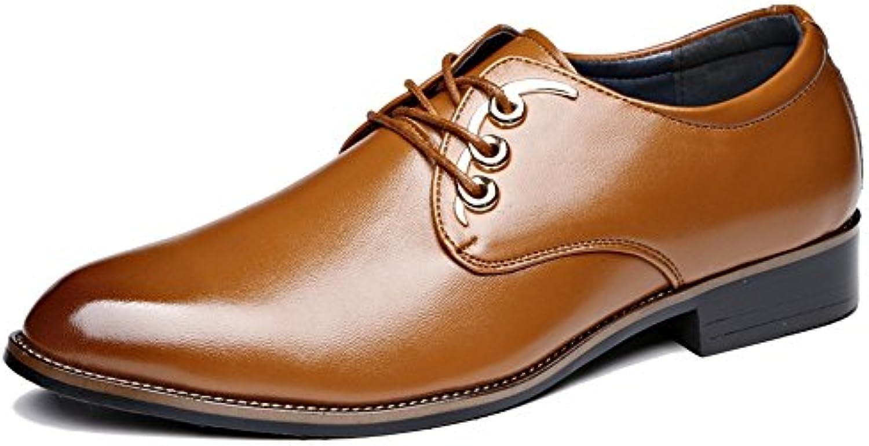 Hongjun-scarpe Scarpe Uomo 2018, Scarpe Stringate Stringate Stringate Basse da Uomo in Pelle Oxford (Coloree   Giallo, Dimensione   39... | prezzo al minuto  | Scolaro/Signora Scarpa  e834a1