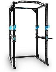 Capital Sports Tremendour Power Rack Homegym Kraftstation Fitness-Rack (Konstruktion aus Stahl-Kantrohr, inkl. Multigripp-Klimmzugstange, nach Wahl mit oder ohne Latzugturm)