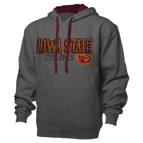 Ouray Sportswear NCAA Iowa State Cyclones Benchmark Colorblock Pullover Kapuze, Large, Graphit/Granat (State Iowa Football Jersey)