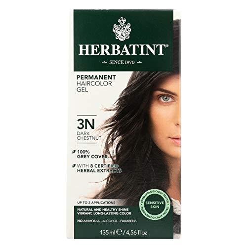 Herbatint 3N Dark Chestnut Permanent Herbal Hair Colour Gel 135ml