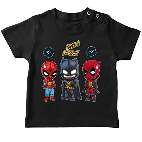 T-Shirts Avengers parodique Batman, Deadpool et Spider-Man : Un léger problème de Conception au Niveau du Masque. (Parodie Avengers)