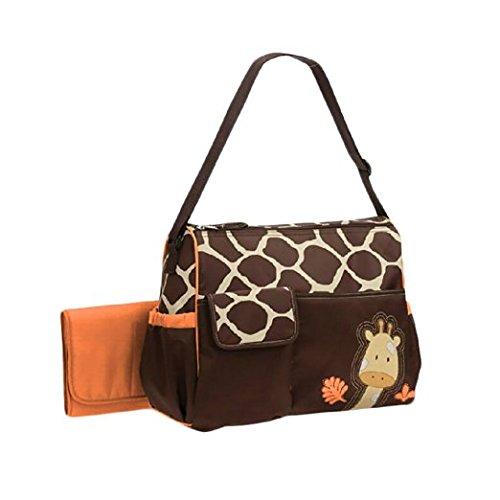 Focus AZ Multifunctional para Madre Dibujo Animal Jirafa Bolsos Cambiadores de Bebé Mochila Para Carrito Cambiar Pañal - Gran Espacio 40x32x18cm (naranja)