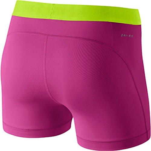 Nike Pro 3–Short Femme Rose - Hot Pink/White