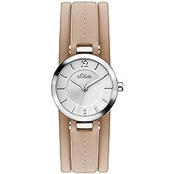 s.Oliver - SO-3119-LQ - Montre Femme - Quartz - Analogique - Bracelet Cuir Beige